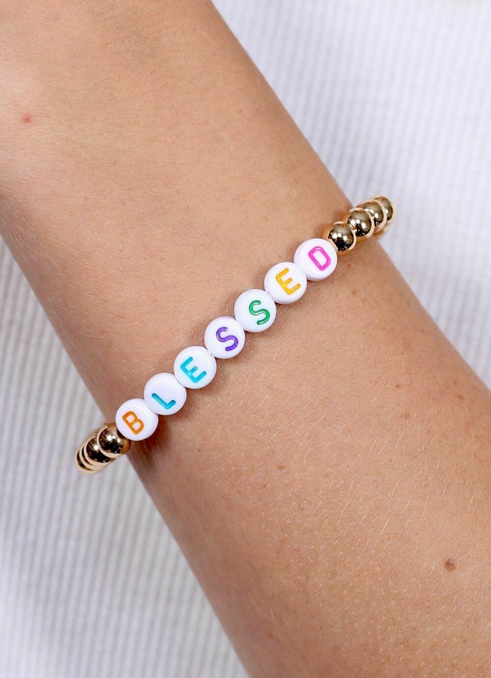 Beaded bracelet blessed
