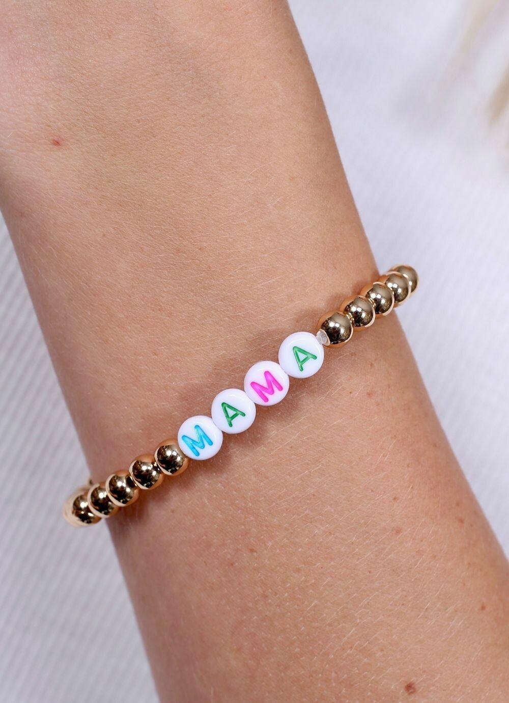 Beaded bracelet mama