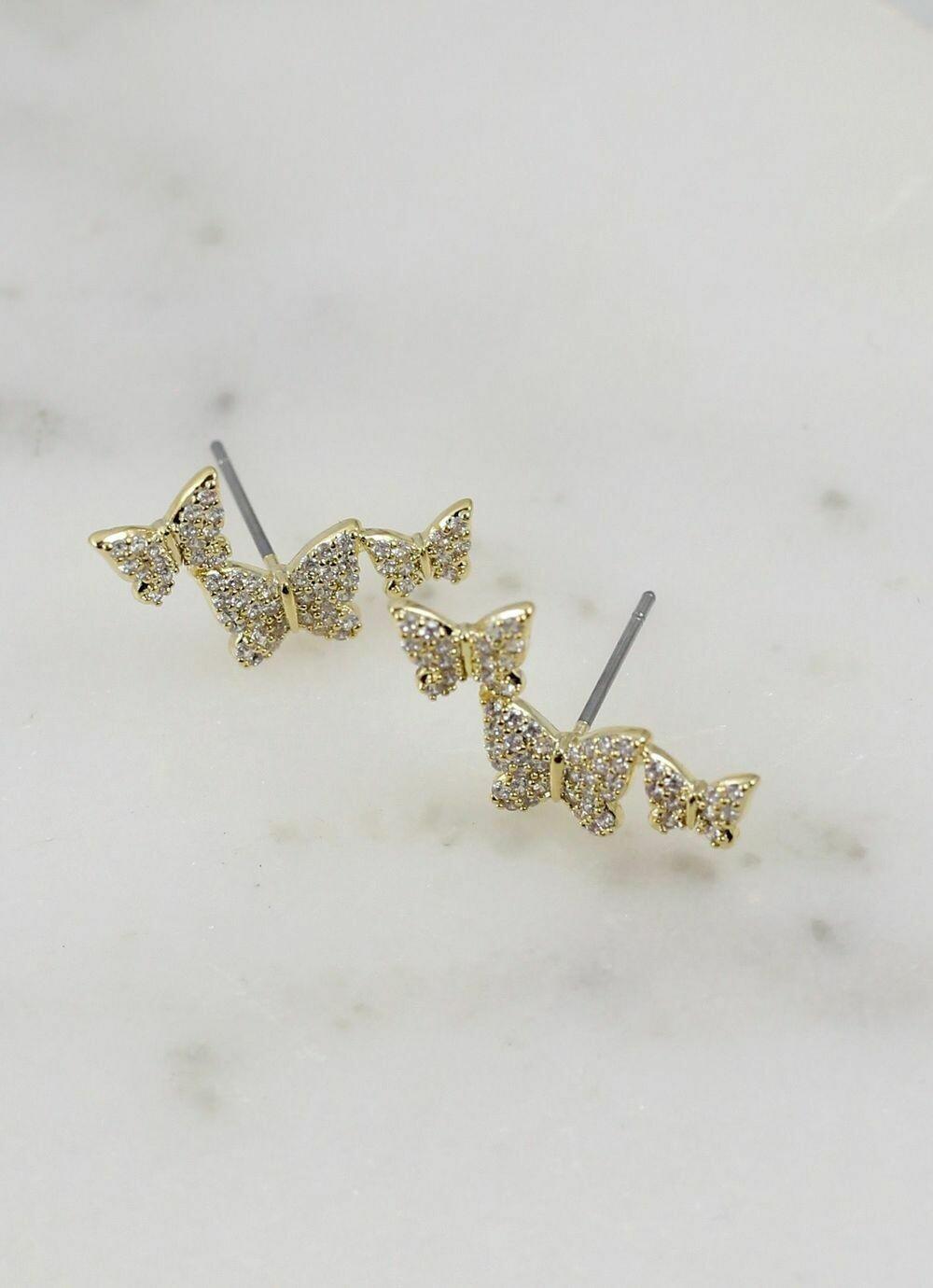 Butterfly crawler earring