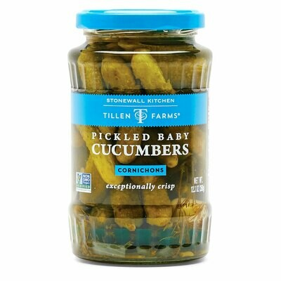 Baby pickled cucumbers