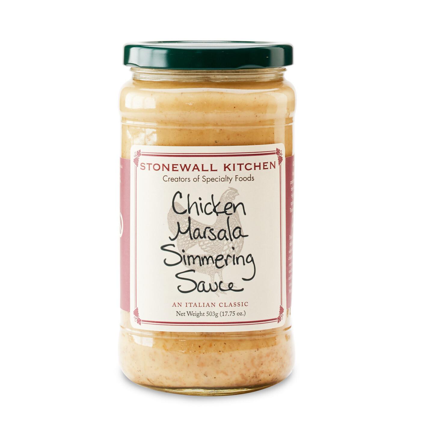 Chicken marsala simmering sauce