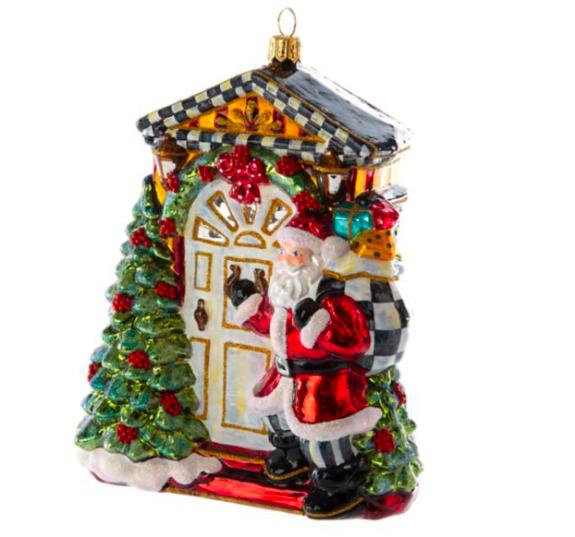 Knock knock santa orn