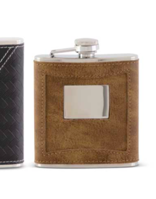 Leather flask taupe