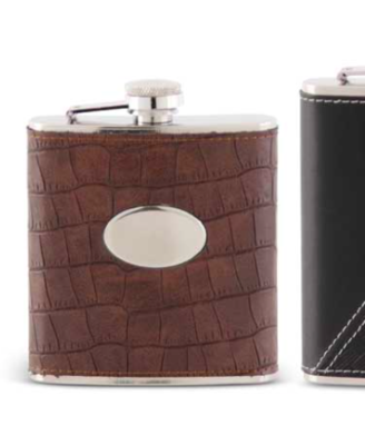 Leather flask brown