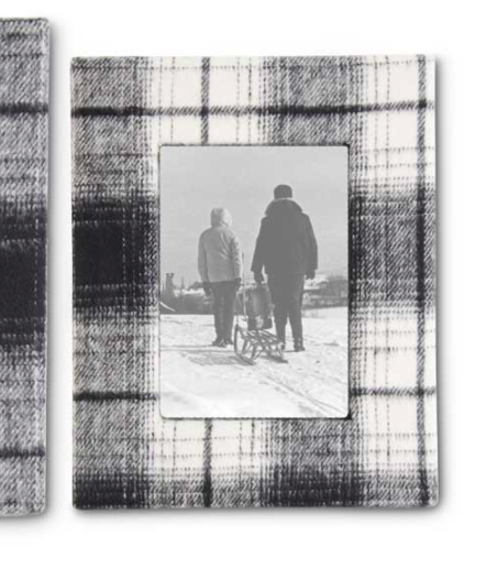 Black and white plaid frame 4x6