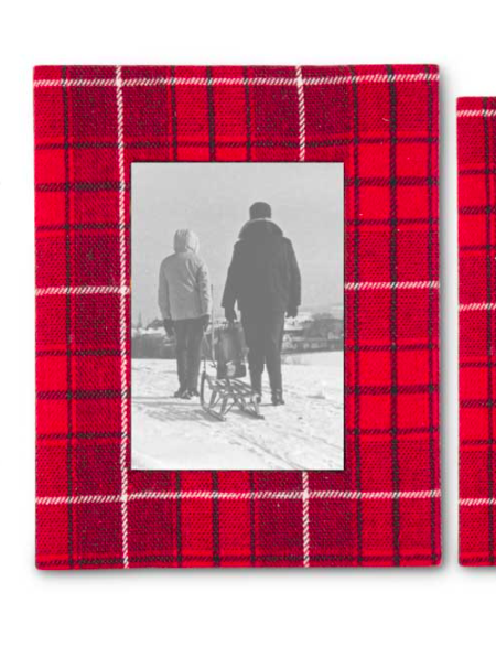Red plaid frame 5x7