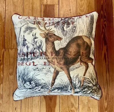 Pillow carlo with red plaid back
