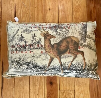 Pillow carlo with burlap band
