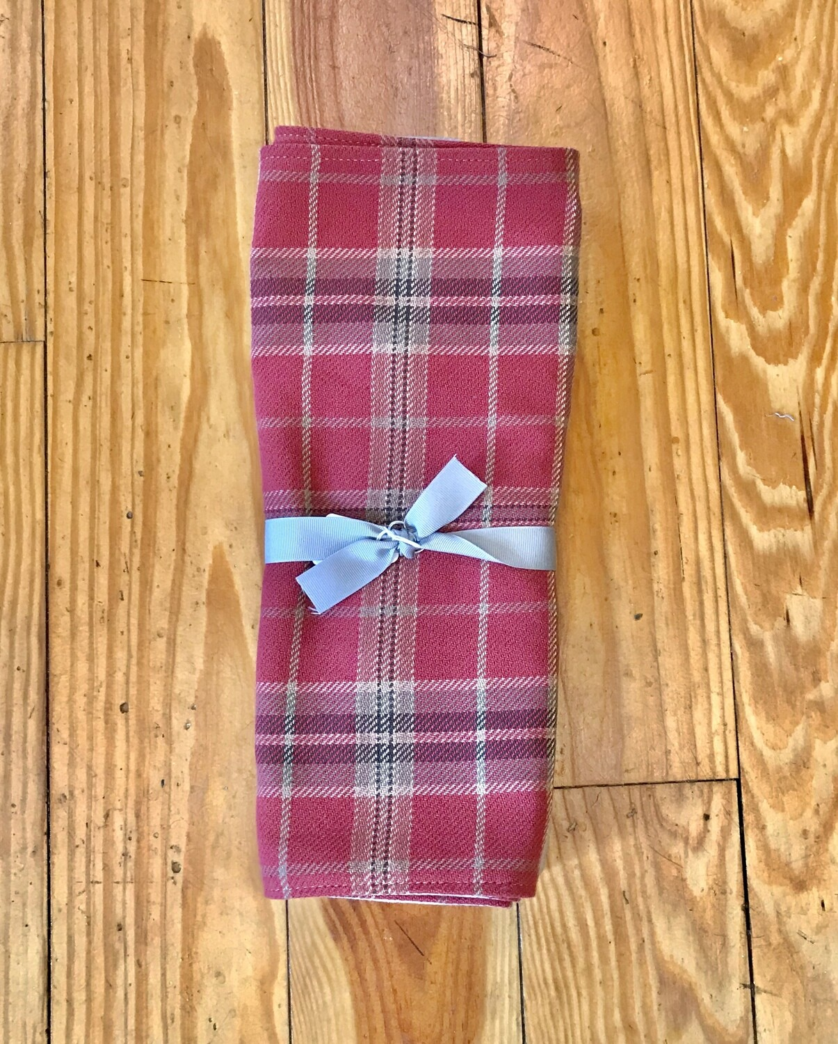 Placemats set of 4 red plaid
