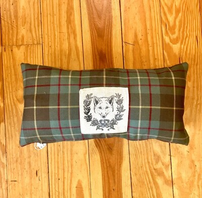 Fox pillow plaid 10x20