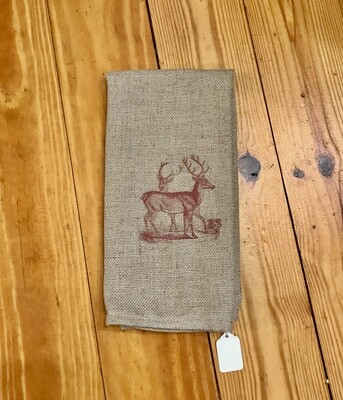 Cafe towel with red deer