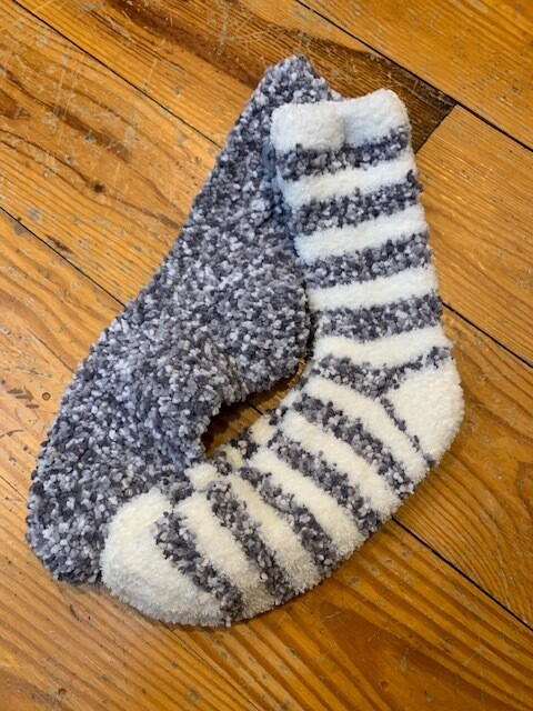 Popcorn sock set gray