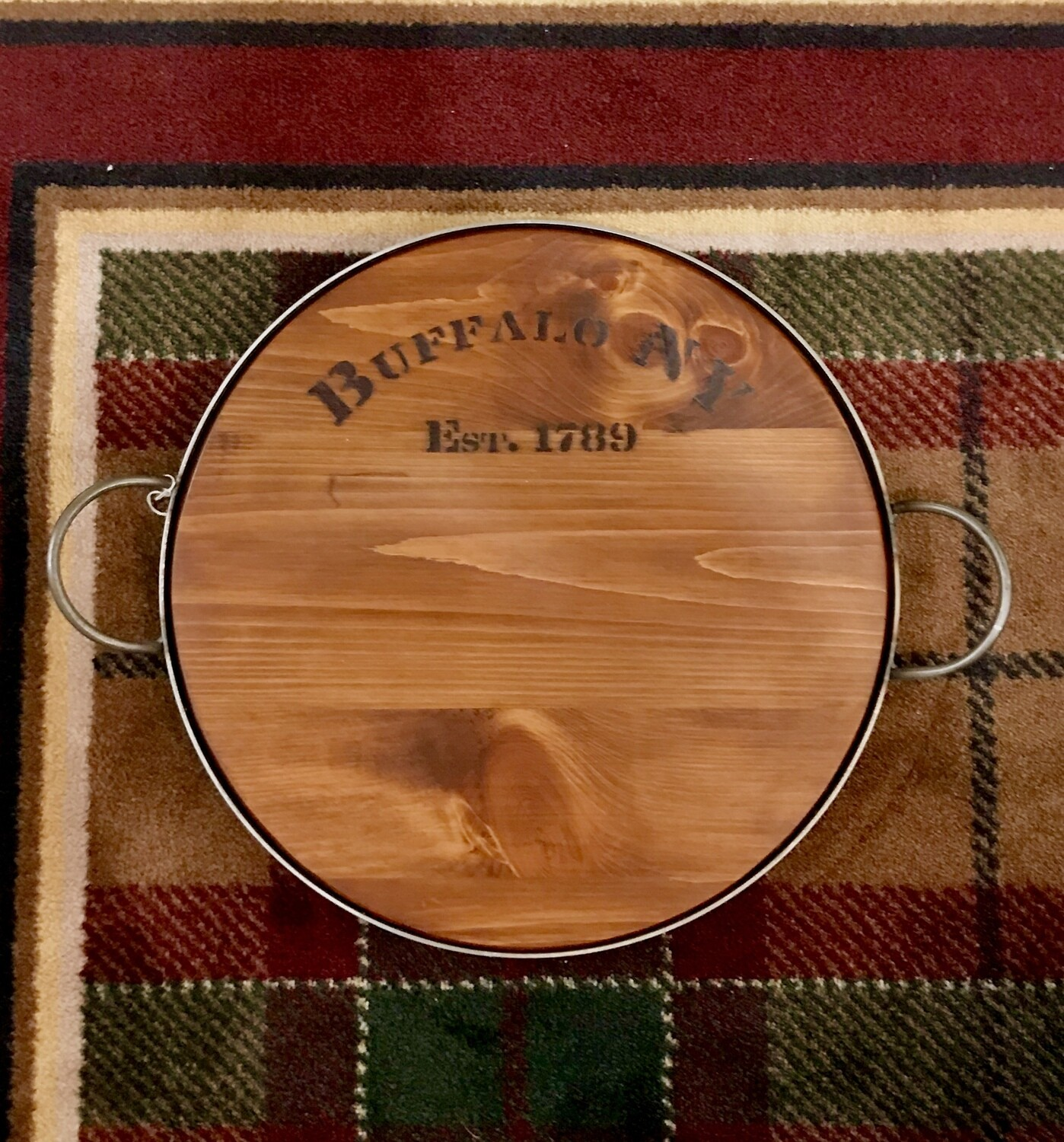 Buffalo cask and crown tray