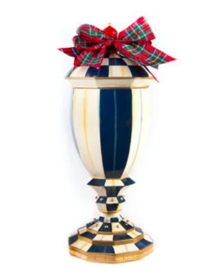 Royal check lidded urn medium