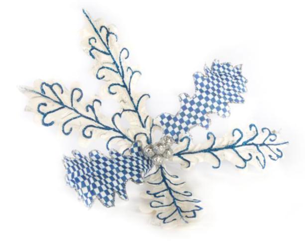 Royal scroll flower clip
