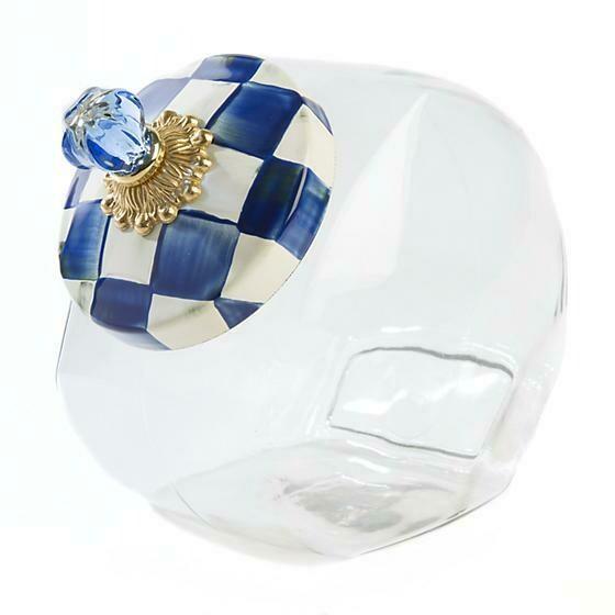 Royal check cookie jar