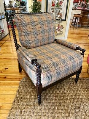 Spool chair with newburry walnut burberry