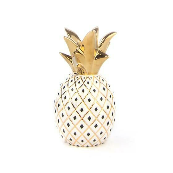Pineapple candle holder small white
