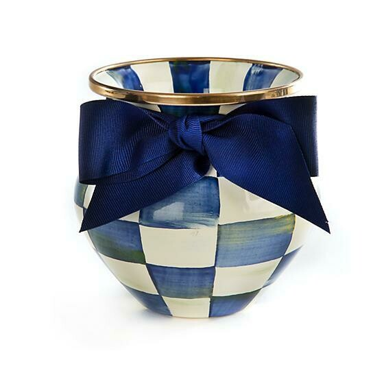 Royal check vase
