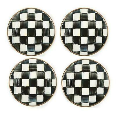 CC enamel canape plates set of 4