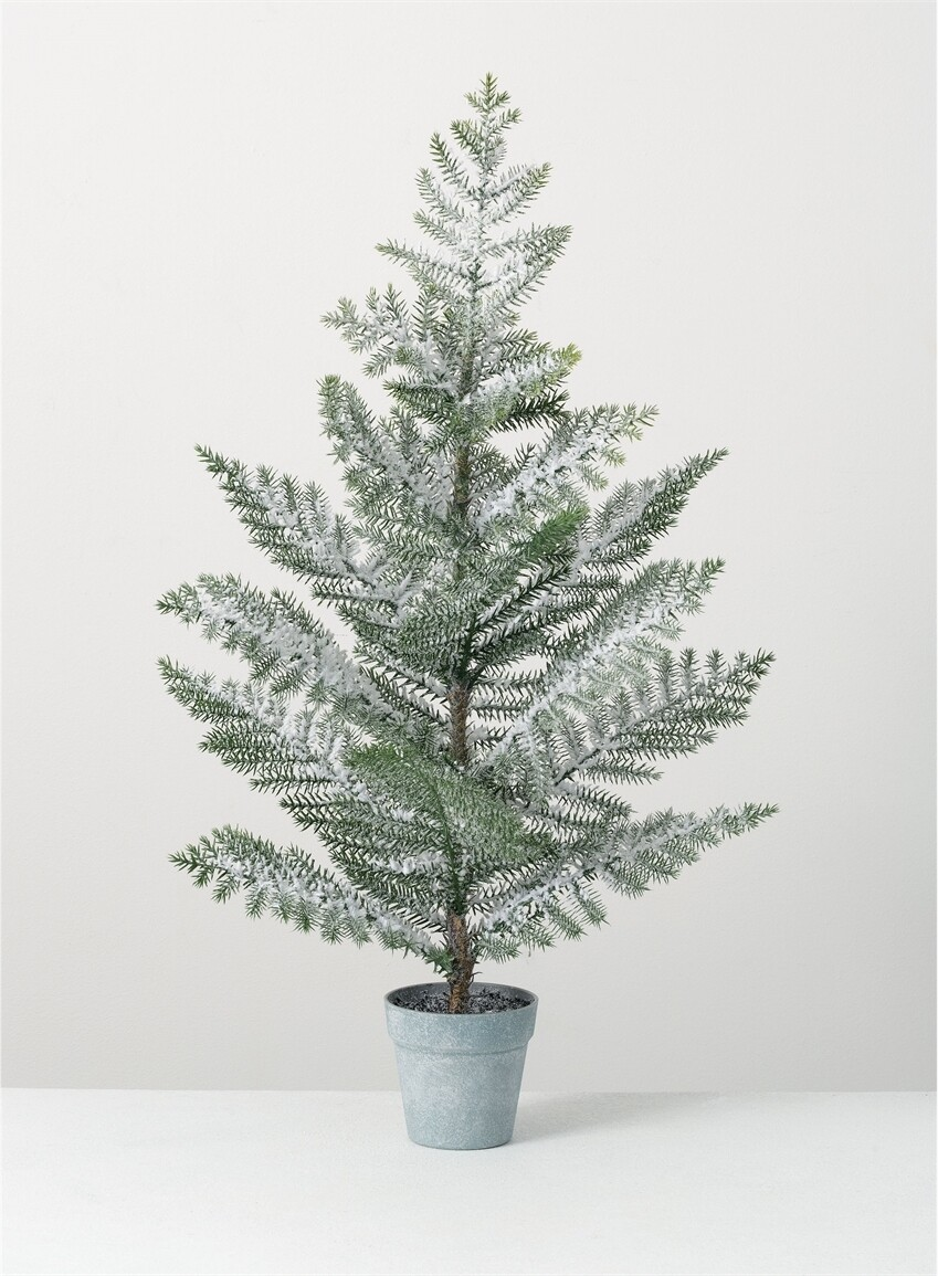 Pine tree with snow 25 inch
