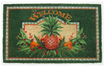 Welcome pineapple entrance mat