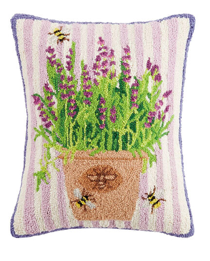 Lavender bees pillow