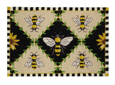 Bumblebee hook rug 2x3