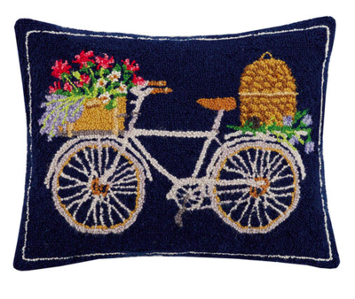 Spring bee bike pillow