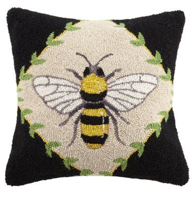 Bumblebee pillow 18x18