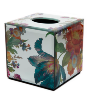 Flower market reflections tissue box cover