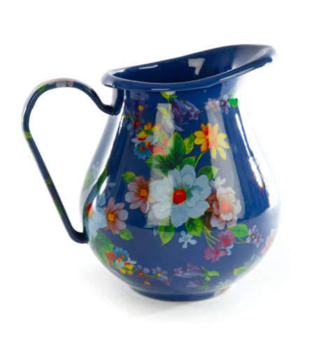 Flower market pitcher lapis