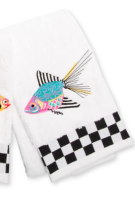 Fantasia fish blue hand towel
