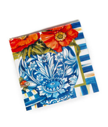 Ming poppies paper napkin cocktail
