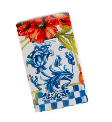 Ming poppies paper napkin guest
