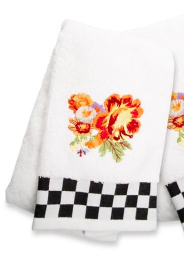 Peony hand towel