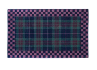Peacock tartan rug 3x4'11