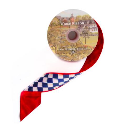 """Royal Check 2"""" Ribbon - Red Back"""