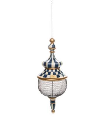 Royal check pendant bird feeder