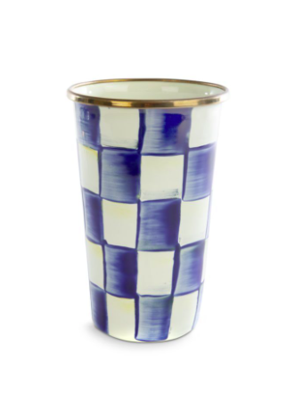 Royal check enamel tumbler 20 oz