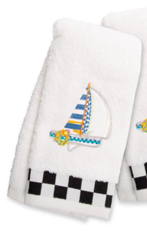 Sail away fingertip towel