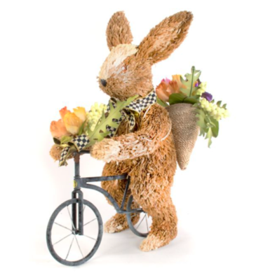 Farmhouse garden bunny on bike