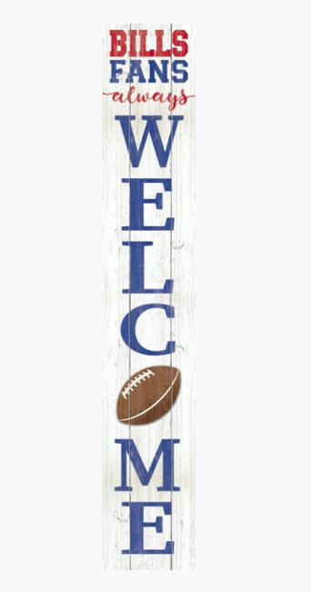Bills fans always welcome porch board