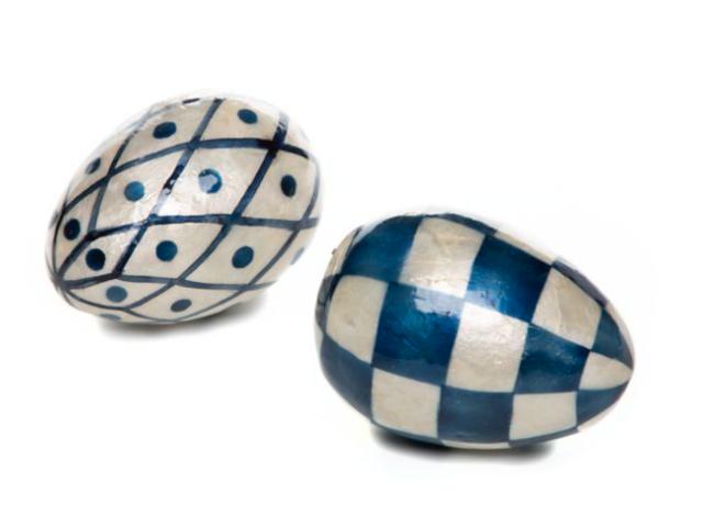 Country stroll capiz eggs set of 2