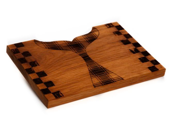 Whale serving board small