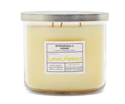 Lemon meringue candle medium