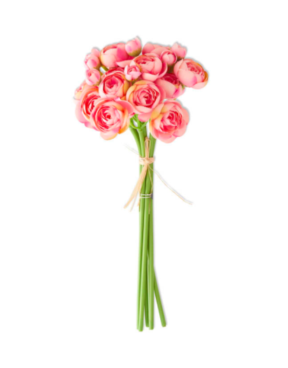 11 inch mini ranunculus bundle pink