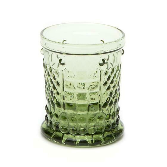 Coquette juice glass green