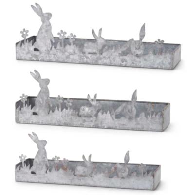Potting tray with bunny cutout medium