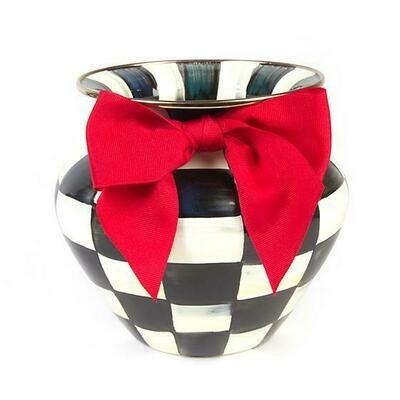 CC Enamel Large Vase - Red Bow